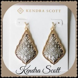 Kendra Scott Addie GldDrop Earring Silver Filigree